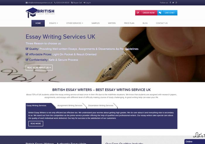 Britishessaywriters.co.uk preview