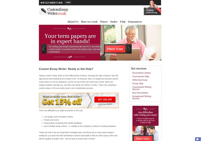 Customessaywriter.co.uk preview