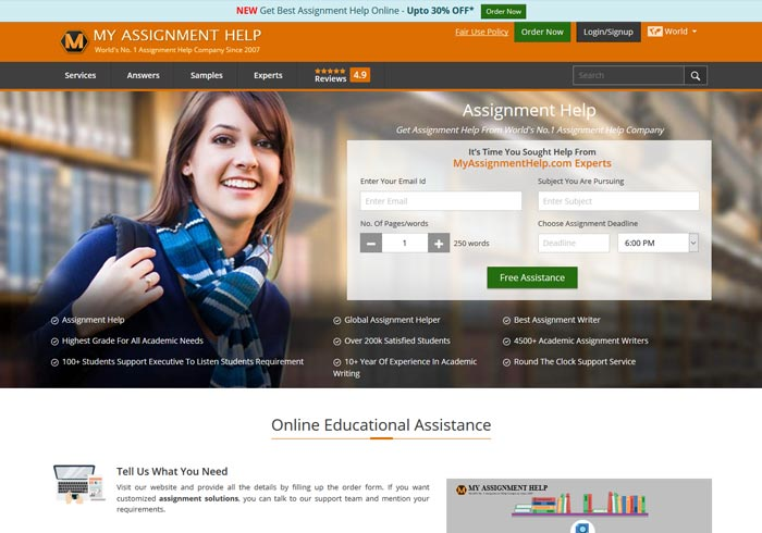 Myassignmenthelp.com preview