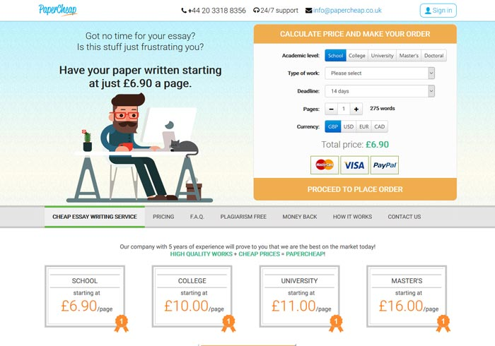 Papercheap.co.uk preview